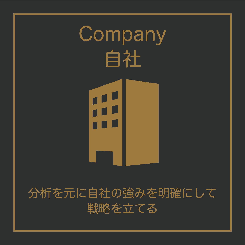 Company(自社)については、分析をもとに自社の強みを明確にして戦略を立てましょう。